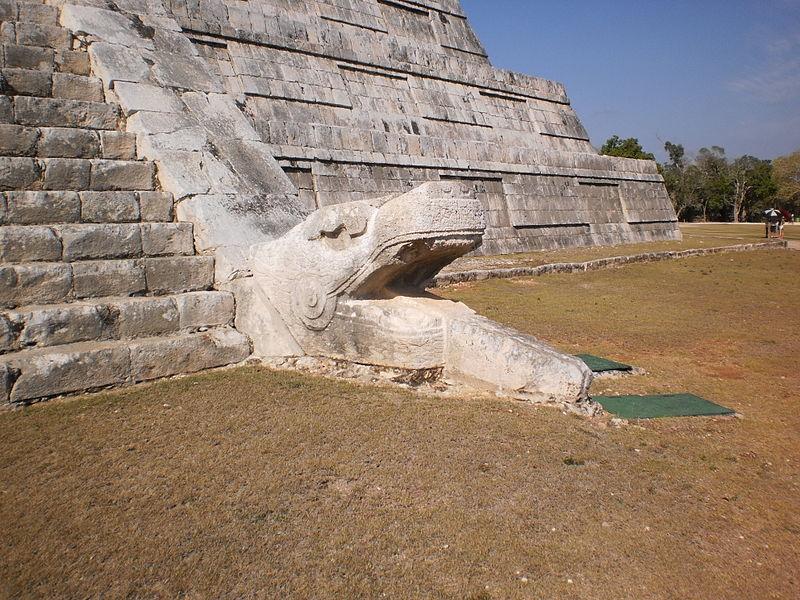 La serpiente de Chichén Itzá (Foto: Wikimedia // Kati.kats)