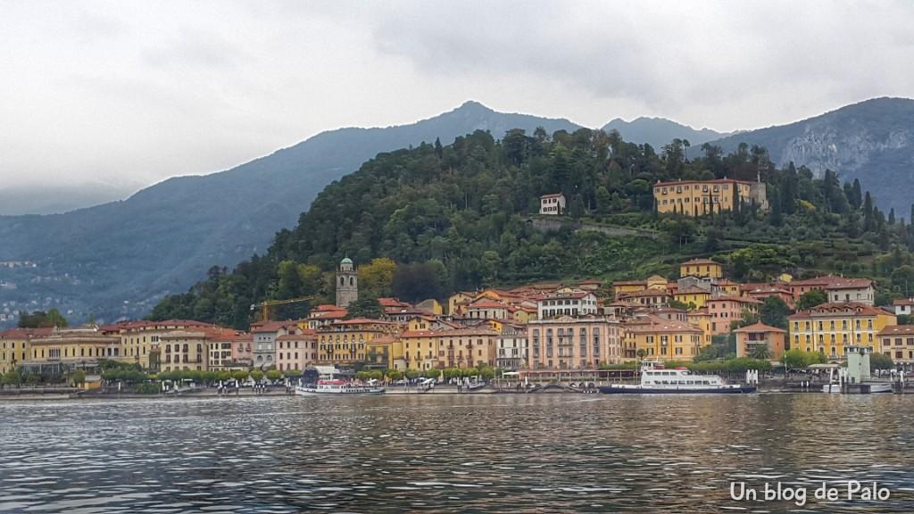 Vistas de Bellagio desde el barco