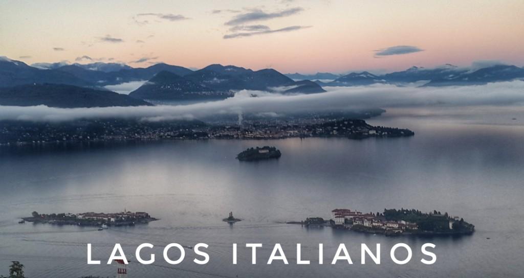 Tres lagos italianos del norte