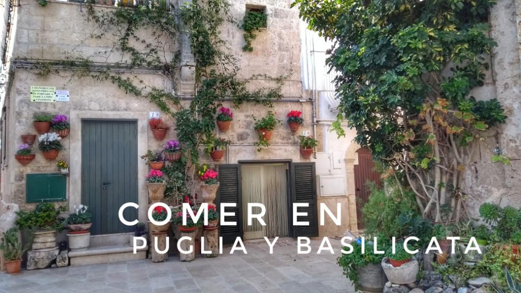 Gastronomía en Puglia y Basilicata