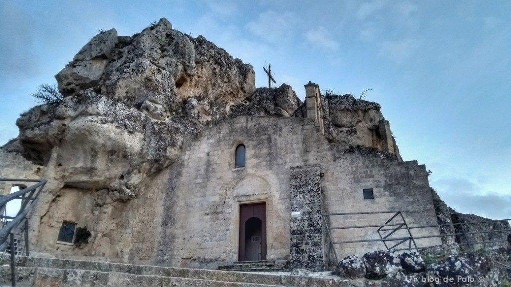 Exterior de la iglesia de la Virgen de Idris en Matera