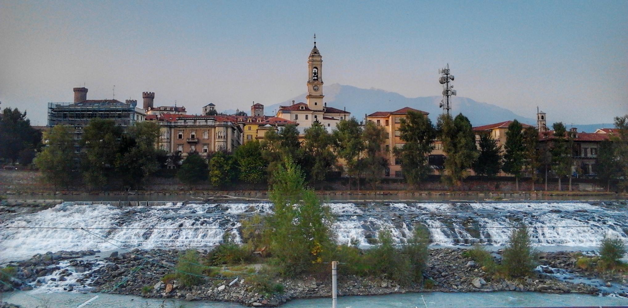 Vistas del centro histórico de Ivrea